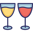 Glasses Wine Glasses Drink Icon