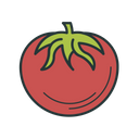 Tomato Vegetable Red Food Veggie Agriculture Icon