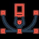 Tool Bezier Curve Icon