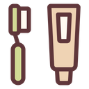 Toothbrush Toothpaste Hygiene Icon