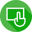 Touch Click Monitor Icon