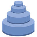 Toy Pyramid Construction Icon