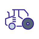 Tractor Construction Technology Icon