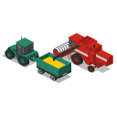 Tractor Combine Back Icon