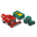 Tractor Combine Front Icon