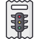 Traffic Challan Challan Payment Traffic Penalty Icon
