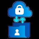 Transfer Data Cloud Folder Icon