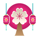 Tree Sakura Festival Icon