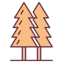 Trees Adventure Jungle Icon
