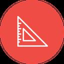 Triangle Measure Scale Icon
