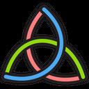 Triquetra Celtic Sign Knot Symbol Icon