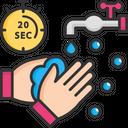 Twenty Second Wash Hand Icon