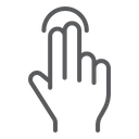 Two Finger Tap Icon