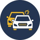 Two Car Collision Accident Automobile Icon
