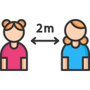 Two Meter Distance Icon