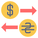 Usa Ukraine Currency Icon
