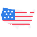 American Map Usa Flag Architecture Icon