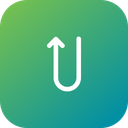 Uturn Road Direction Icon