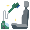 Vacuum Interior Car Wash Transportation Icon
