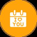 Valentine Reminder Calendar Icon