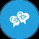 Valentine Love Chat Icon
