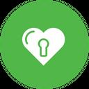 Valentine Love Lock Icon