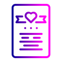 Valentine Greeting Card Icon