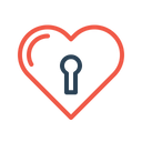 Valentine Love Lock Icon