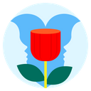 Valentine Valentine Day Rose Icon