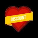 Valentine Day Discount Icon