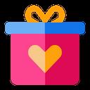 Gift Box Love Heart Icon