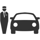 Valet Parking Car Rental Parking Icon