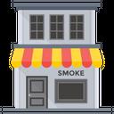 Vapor Shop Tobacco Shop Cigarette Kiosk Icon