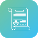 Verified Document Certificate Icon