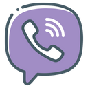Viber Telephone Handset Icon