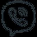 Viber Telephone Handset Icon