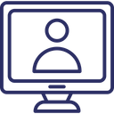 Video Call Voice Chatting Computer Screen Icon