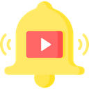 Video Notification Online Video Notification Bell Icon