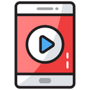 Mobile Player Multimedia Video App Icon