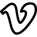 Vimeo Social Media Logo Logo Icon