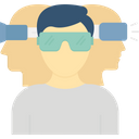 Virtual Glasses Virtual Goggles Virtual Reality Environment Icon