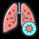 Lungs Pneumonia Virus Icon