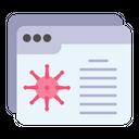 Virus Information Website Icon
