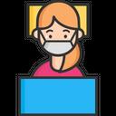 A Sick Virus Portection Mask Face Mask Icon