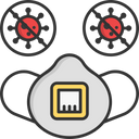 Virus Protection Mask Icon