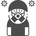 Virus Protection Mask Icon