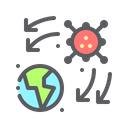 Virus Spread Icon