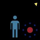 Virus Spread Graph Icon