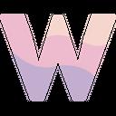 W Alphabet Symbol Icon