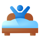 Wake Up Bed People Icon